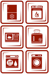 set home appliance icons