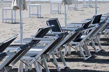 Transats sur la plage