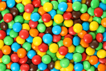 Background of colorful chocolate coated candy.