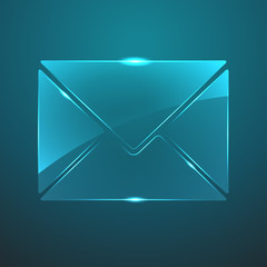 Vector glass mail icon. Eps10