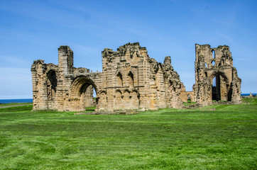 The ruins of Tynemouth priory and castle