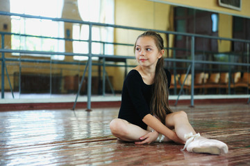 Little girl in the dance class