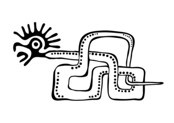 snake in american indians' style