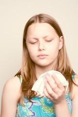Sick teen girl