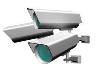 Security camera equipment for video surveillance and spying