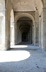 Parma, Italy, Palace of Pilotta, the arches