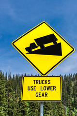 Steep Grade Warning Sign