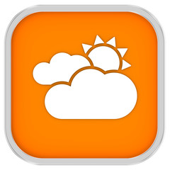 Mainly cloudy with sunny intervals sign