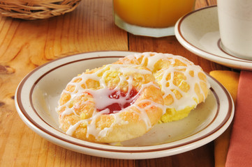 cheese and cherry danish