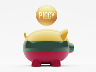 Lithuania Piggy Concept