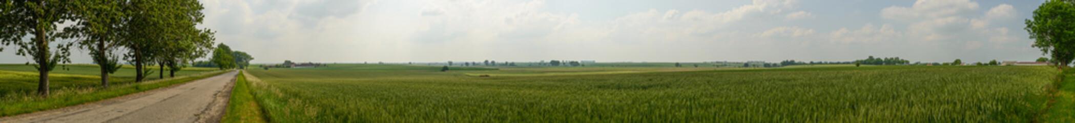 Panorama photo of farmland ,Poland.
