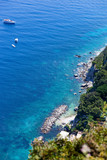 View of the coast of the island of Capri