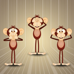 The three wise monkey