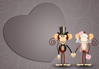 Monkey just married