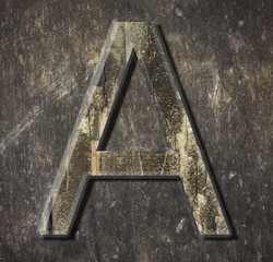 "Metal  Letter  ""a"""