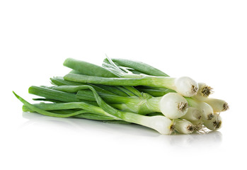 Fresh chives isolated on white ground