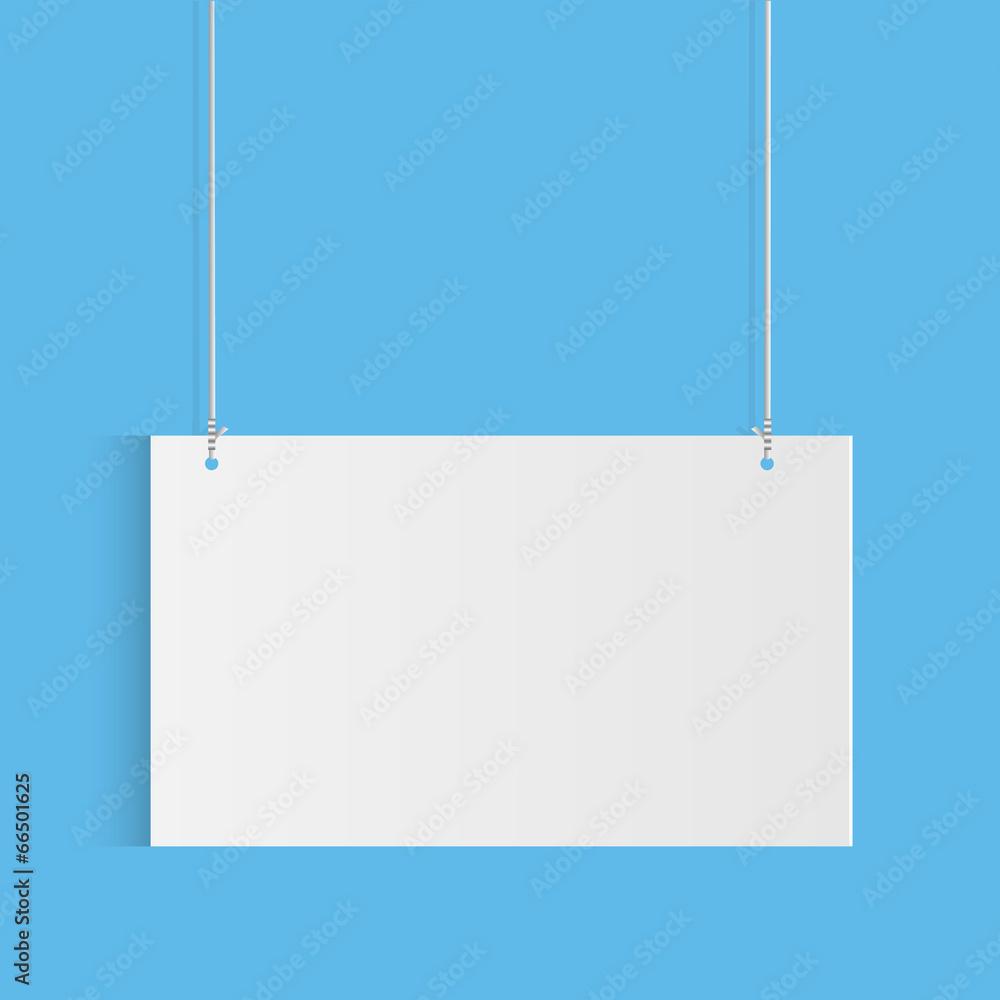 biały papier deska - powiększenie