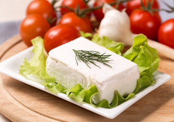 Goat milk cheese with dill