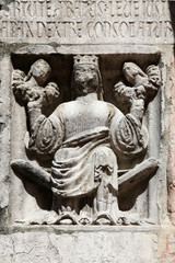 Faith (holding Justice and Peace), baptistery from Parma