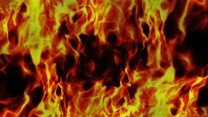 Flames on Textile Background