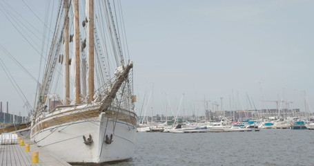 The ship near the harbour  4K RAW FS700 Odyssey 7Q