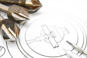 Drills and compasses .