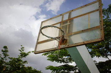 old outdoor basketball court