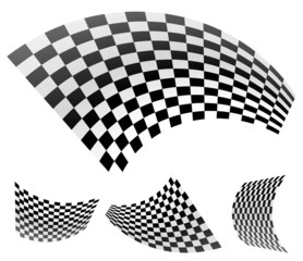 Abstract racing flags