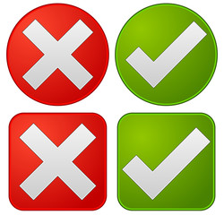 Checkmark and cross