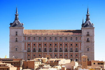 View of the Alcazar in Toledo, Spain