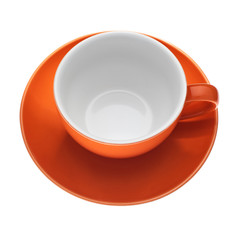 Empty cup isolated