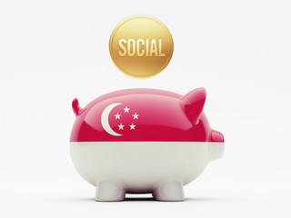 Singapore Social Concept