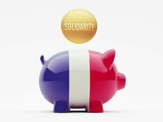 France Solidarity Concept