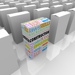 Construction Boxes Choose Best Builder Contractor