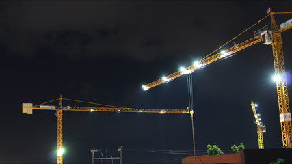 Time-Lapse Cranes Tower