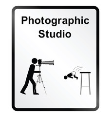 Photographic Studio Information Sign