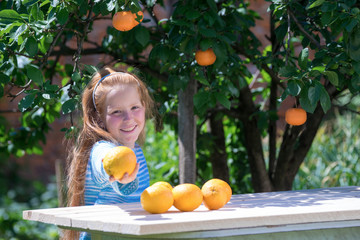 Girl with oranges