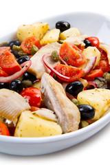 insalata di sgombro patate pomodori e olive
