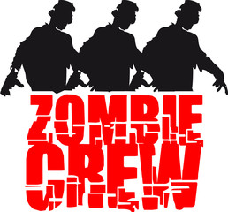 3 Zombies Crew Party Freunde Team