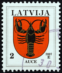 Auce coat of arms (Latvia 2007)