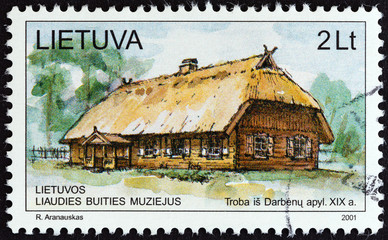 Dwelling house from the district of Darbenai (Lithuania 2001)