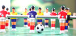 canvas print picture - Foosball. football table