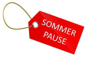 Schild Sommerpause