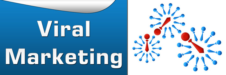 Viral Marketing Blue Horizontal