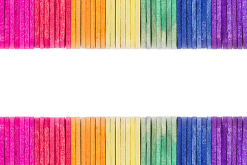 colorful wood ice-cream stick