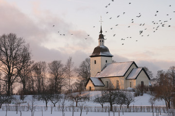 Swedish church winter