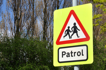 School Patrol Crossing Sign