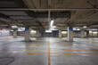 Empty underground parking background with copy space - 66517282