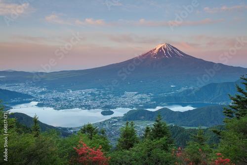 Mt Fuji in summer season from Kawaguchiko lake, Yamanashi © torsakarin