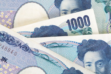 close - up 1000 Japanese yen bank note